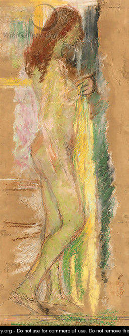 Standing Nude with Red Hair - Maurice Brazil Prendergast