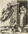 God appearing to Noah - Marcantonio Raimondi