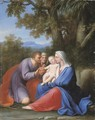 The Holy Family with Saint Anne - Marcantonio Franceschini