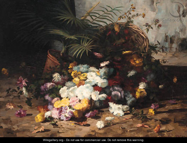 Summer flowers spilling from a basket - Marguerite Jacqueline