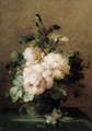 A still life with roses - Margaretha Roosenboom