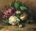 A still life with lilacs - Margaretha Roosenboom