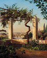 A view of Rome from a sunlit terrace - Marie Khull