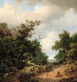 Travellers resting by the side of a path - Marianus Adrianus Koekkoek