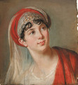 Portrait of Giuseppina Grassini, bust length, in the role of Zaira - Elisabeth Vigee-Lebrun