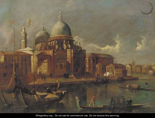 Sante Maria della Salute, Venice, looking west toward the Grand Canal - (after) Michele Marieschi
