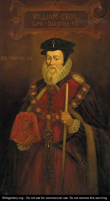 Portrait of William Cecil (1520-1598), 1st Baron Burghley 2 - (after) Marcus The Younger Gheeraerts