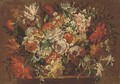 Summer flowers in a wicker basket - (after) Pieter Hardime