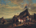 A cavalry encampment - (after) Philips Wouwerman
