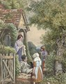 Outside the cottage - Samuel McCloy