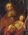 Joseph and the Christ Child - Rembrandt Van Rijn