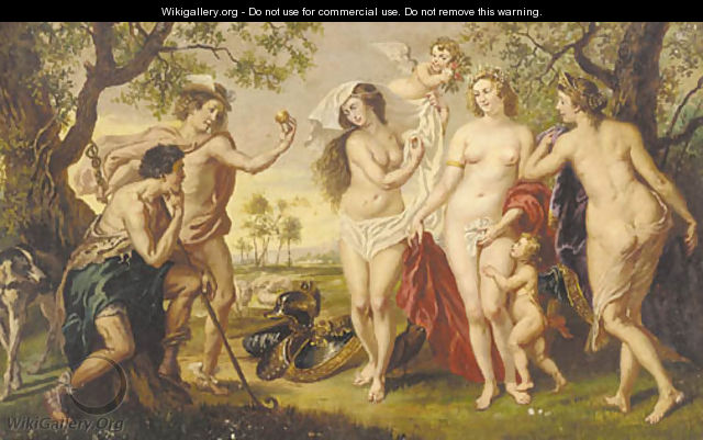 The judgement of Paris 2 - (after) Sir Peter Paul Rubens