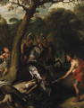 A Boar Hunt - (after) Sir Peter Paul Rubens