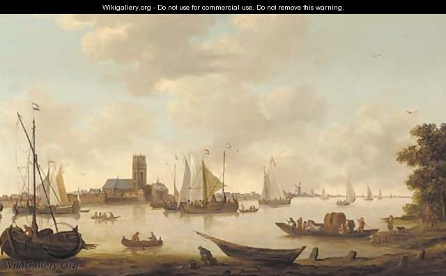 View of Dordrecht from the river Maas - (after) Hendrik De Meyer