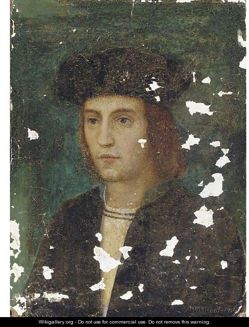 Portrait of a gentleman, bust-length, in a black cap - (after) Holbein the Younger, Hans