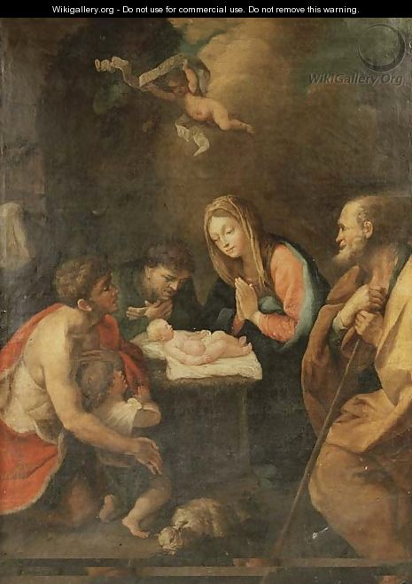 The Adoration of the Shepherds - (after) Guido Reni