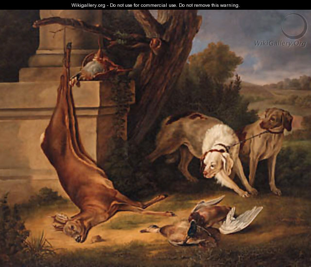 Hunting Dogs with Game in a Landscape - Jean-Baptiste Oudry