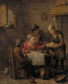 Figures merry-making in a tavern - (after) Jan Steen