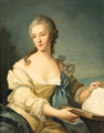 Portrait of a woman - (after) Jean-Marc Nattier