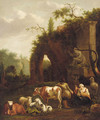 Resting by the ruins - (after) Dirk Van Bergen