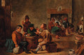 Peasants in a tavern interior - (after) David Teniers