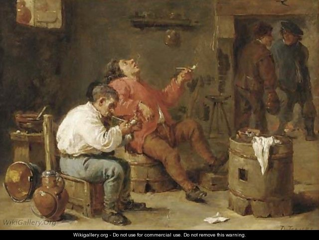Smokers in an inn - (after) David The Younger Teniers