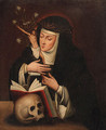 Saint Catherine of Siena - (after) Francisco De Zurbaran
