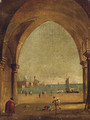 The Bacino Di San Marco From The Colonnade Of The Doge'S Palace - (after) Francesco Guardi