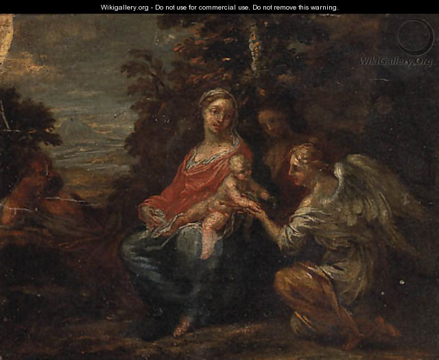 The Rest on the Flight into Egypt 2 - (after) Francesco Albani