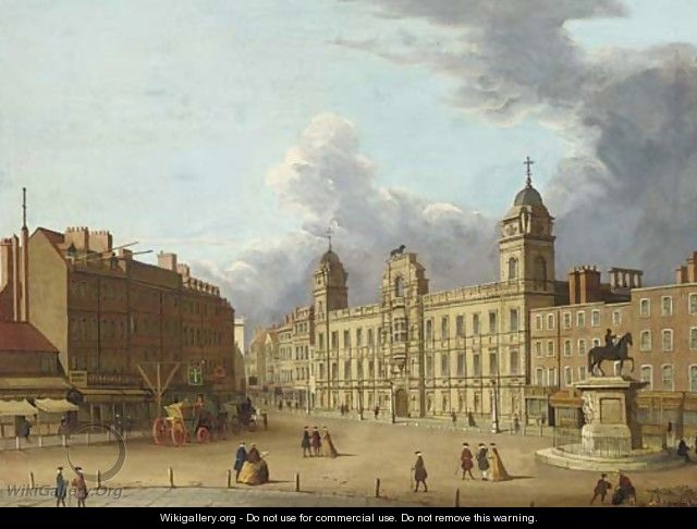 Old Northumberland House - (Giovanni Antonio Canal) Canaletto