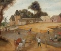 A harvest landscape - (after) Abel Grimmer