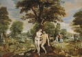 The Garden of Eden, with the Fall of Man, the Creation of Eve, and the Expulsion from the Garden - Maarten de Vos