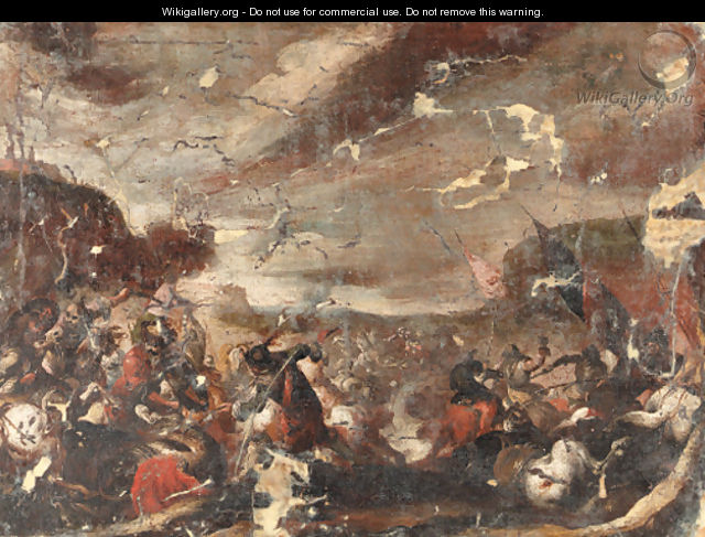 A battle scene - (after) Antonio Calza