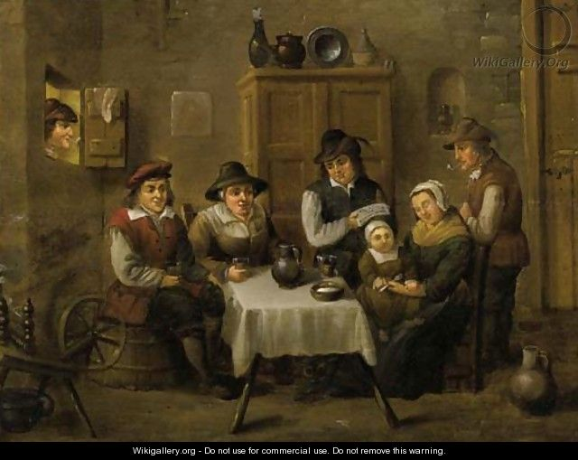 A peasant family at table - David The Younger Teniers ...
