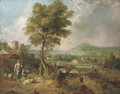 Figures in an Italianate landscape - (after) Claude Lorrain