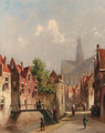 A view of Haarlem in summer - Pieter Gerard Vertin