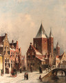 A view in the city of Haarlem - Pieter Gerard Vertin