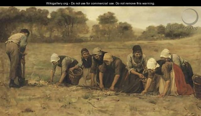 Harvesting potatoes - Philippe Lodowyck Jacob Sadee
