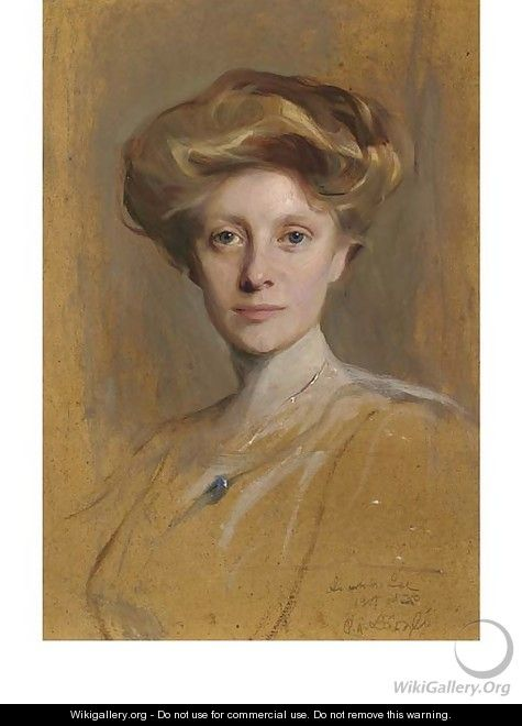A study portrait of Miss Faith Moore, head-and-shoulders - Philip Alexius De Laszlo