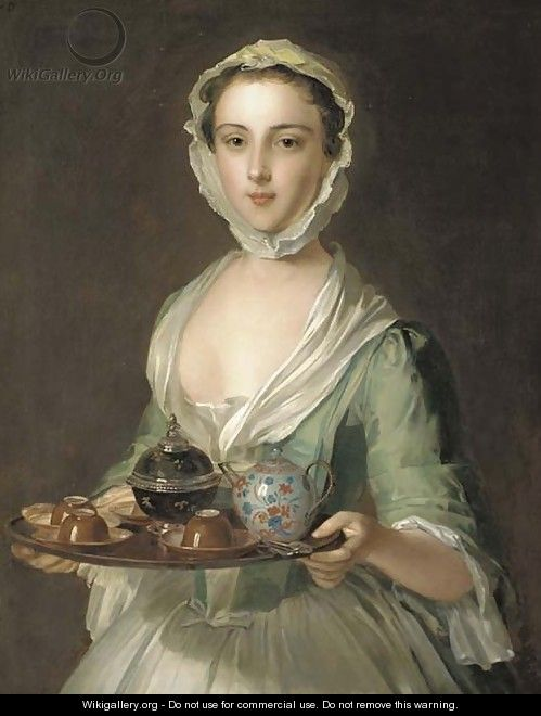 Portrait of a young woman, possibly Hannah, the artist
