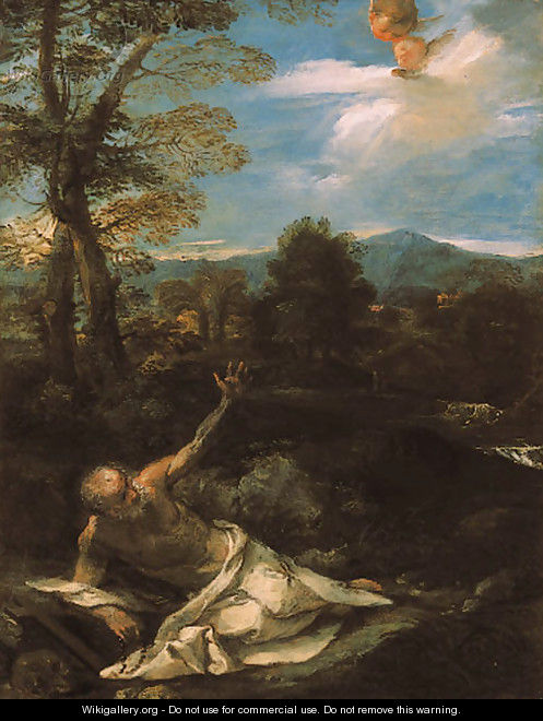 Saint Jerome in the wilderness 2 - Pier Francesco Mola