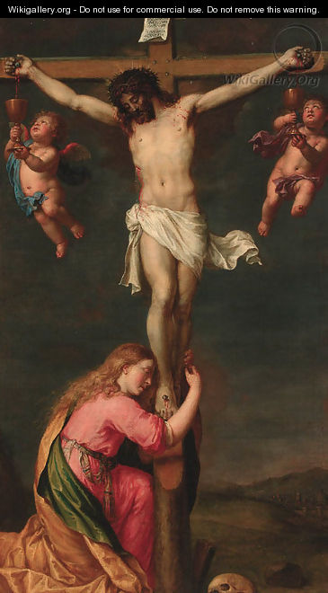The Crucifixion with Mary Magdalene - Pieter van Lint