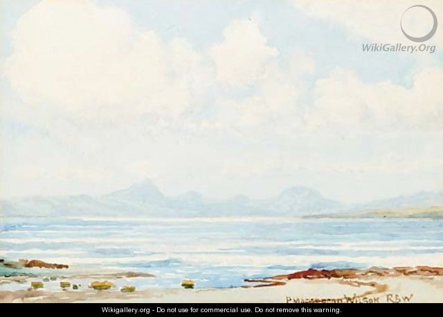 The mountains of Mull from Crinan - Peter MacGregor Wilson