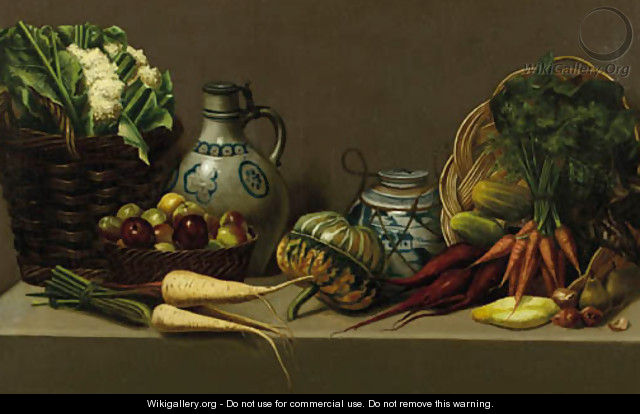 Still life with pottery and vegetable - Paul Rink