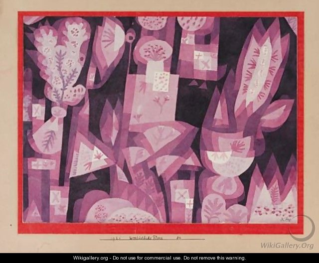 West-Ostliche Flora - Paul Klee