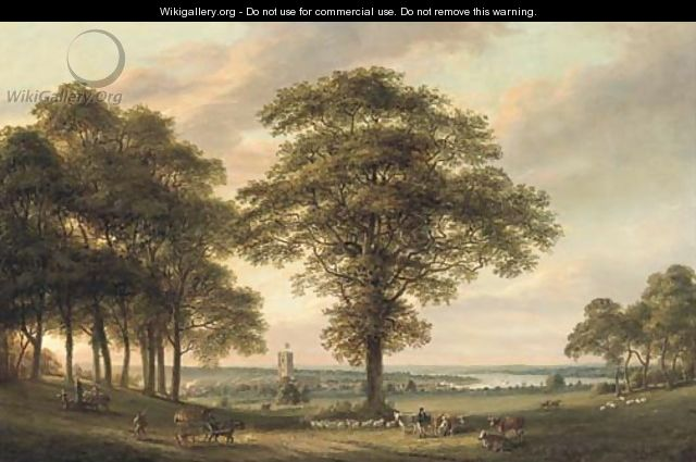 Woolwich from the Conduit Hill, the Thames estuary beyond - Paul Sandby