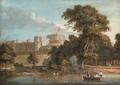 Windsor Castle, from the Thames near Romney Island, Berkshire - Paul Sandby