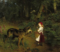 Rotkappchen im Walde Little Red Ridinghood - Paul Friedrich Meyerheim