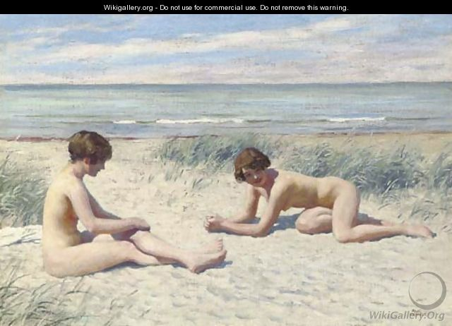On the beach - Paul-Gustave Fis