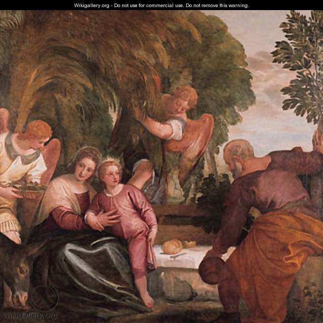 The Rest on the Return from Egypt - Paolo Veronese (Caliari)
